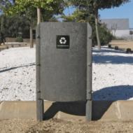 Papelera Oval en plástico reciclado