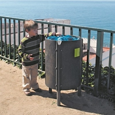 Papelera Redonda plásticor reciclado