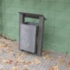 Papelera cuadrada en plástico reciclado