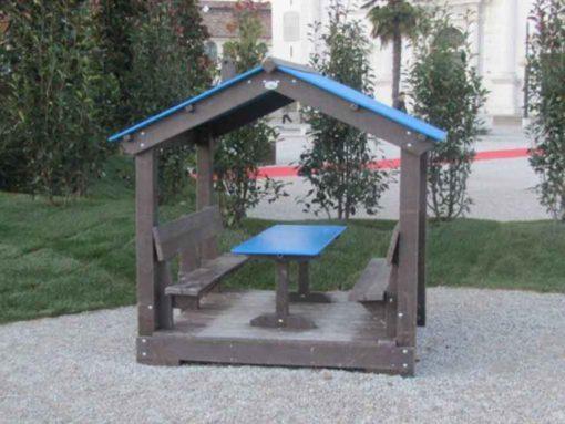 Caseta infantil azul
